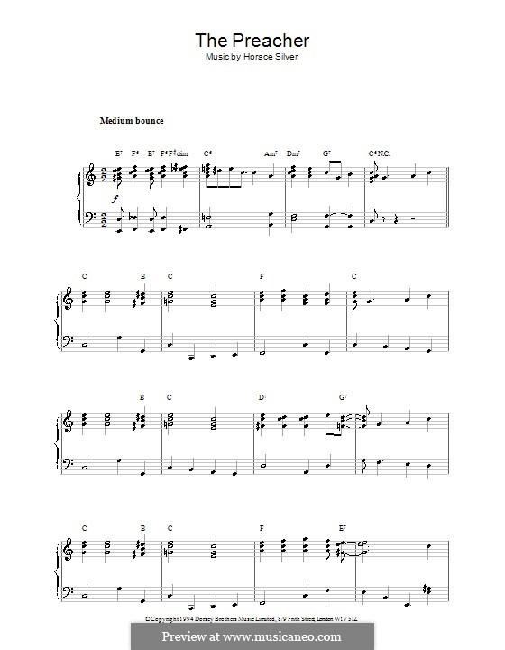 The Preacher: Für Klavier by Hoagy Carmichael