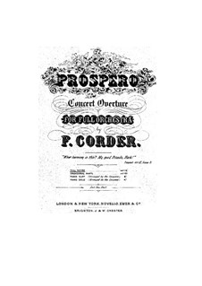 Prospero (Konzertouvertüre): Prospero (Konzertouvertüre) by Frederick Corder