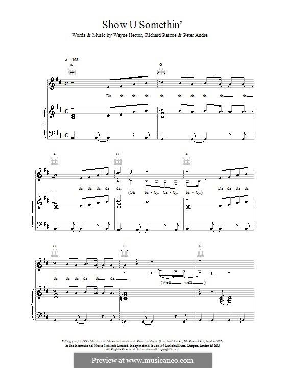 Show U Somethin: Für Stimme und Klavier (oder Gitarre) by Richard W. Pascoe, Peter Andre, Wayne Anthony Hector