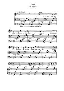 En prière: Klavierauszug mit Singstimmen by Gabriel Fauré
