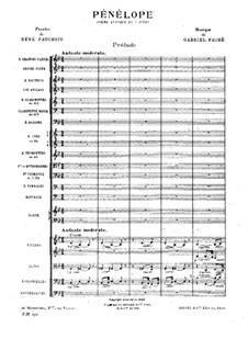 Pénélope: Ouvertüre by Gabriel Fauré