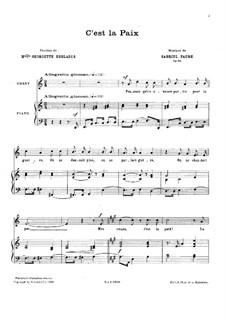 Diese Welt, Op.114: Diese Welt by Gabriel Fauré