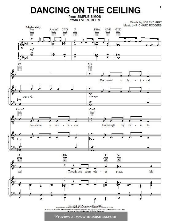 Dancing on the Ceiling: Für Stimme und Klavier (oder Gitarre) by Richard Rodgers
