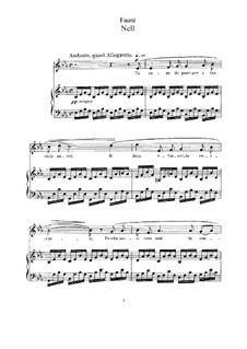 Drei Lieder, Op.18: Vollständiger Satz by Gabriel Fauré