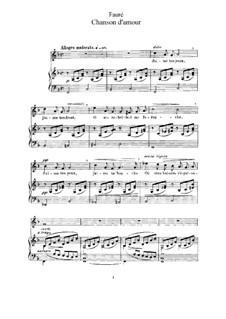 Zwei Lieder, Op.27: Vollsammlung by Gabriel Fauré