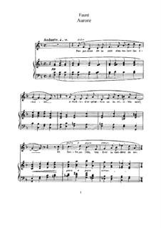 Vier Lieder, Op.39: Vollsammlung by Gabriel Fauré