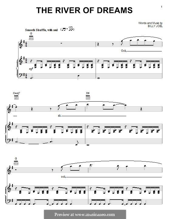 The River of Dreams: Für Stimme und Klavier (oder Gitarre) by Billy Joel