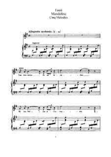 Fünf Lieder, Op.58: Vollständiger Satz by Gabriel Fauré