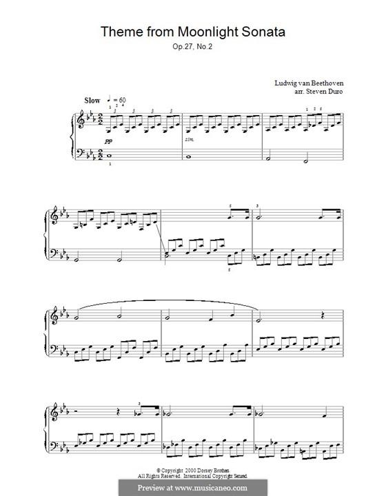 Teil I: Für einen Interpreten (Thema) by Ludwig van Beethoven