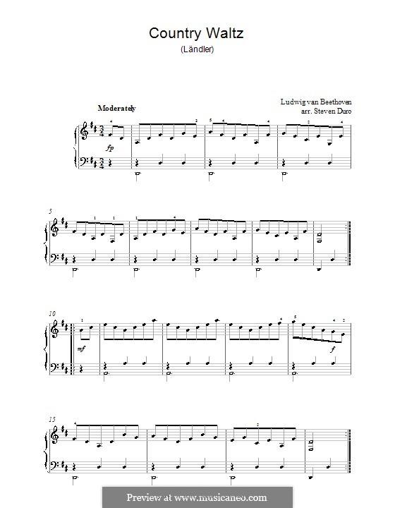 Sieben Ländler, WoO 11: Ländler Nr.3 by Ludwig van Beethoven