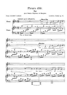 Pleurs d'Or, Op.72: Pleurs d'Or by Gabriel Fauré