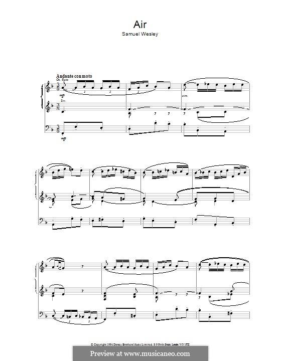 Air: Für Orgel by Samuel Wesley
