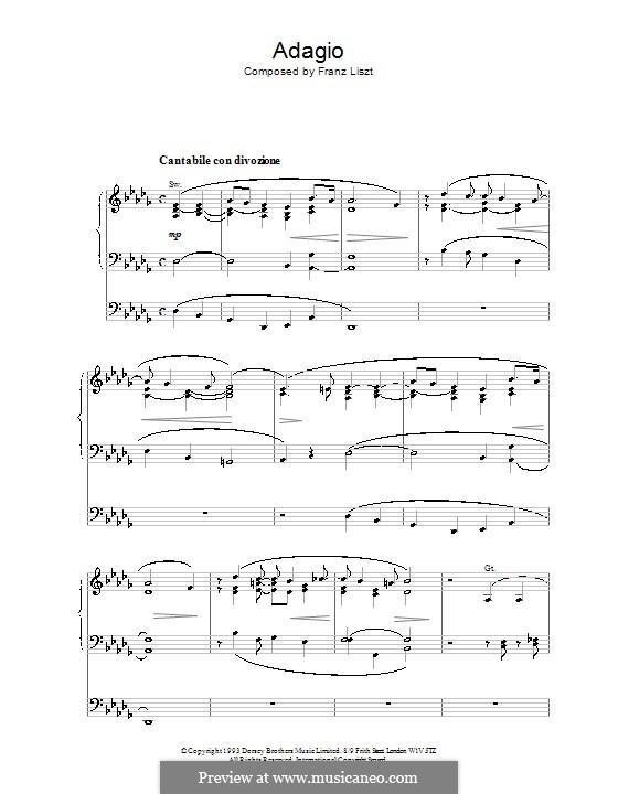 Adagio für Orgel: Adagio für Orgel by Franz Liszt