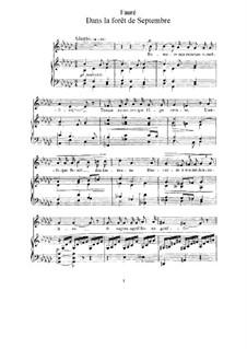 Drei Lieder, Op.85: Vollständiger Satz by Gabriel Fauré