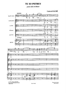 Tu es petrus: Tu es petrus by Gabriel Fauré