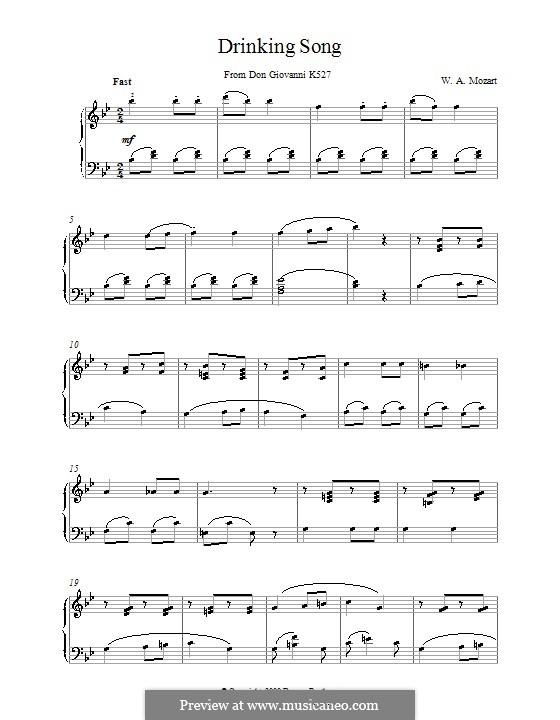 Finch' han dal vino: Für Klavier by Wolfgang Amadeus Mozart