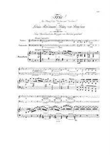 Klaviertrio in Es-Dur, Op.3: Klaviertrio in Es-Dur by Louis Ferdinand Prince of Prussia