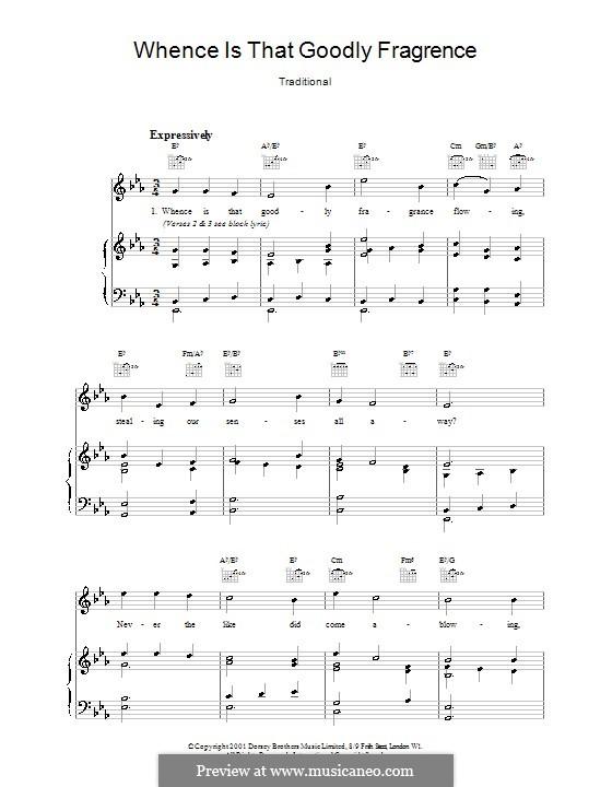 Whence Is That Goodly Fragrance: Für Stimme und Klavier by folklore