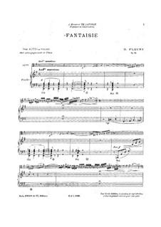 Fantasie für Violine oder Viola und Klavier, Op.18: Fantasie für Violine oder Viola und Klavier by Hélène Fleury