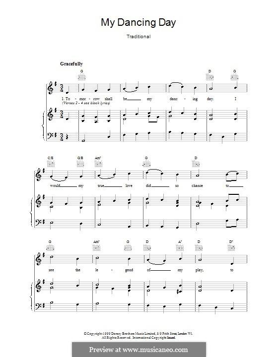 My Dancing Day: Für Stimme und Klavier (oder Gitarre) by folklore