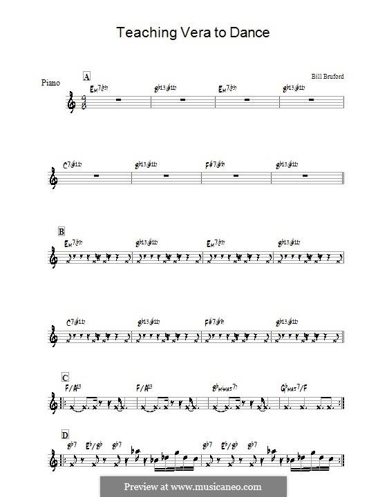 Teaching Vera to Dance: Für Klavier by Bill Bruford