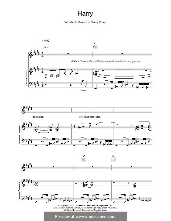 Harry: Für Stimme und Klavier (oder Gitarre) by Macy Gray