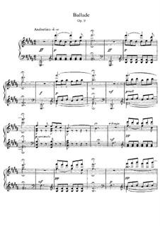 Ballade, Op.9: Ballade by César Franck