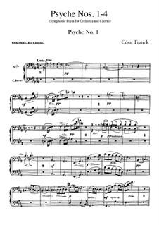 Psyche, M.47: Cello- und Kontrabassstimmen by César Franck