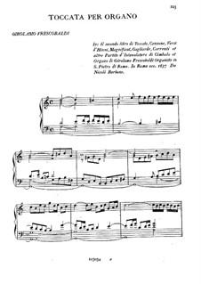 Toccaten für Cembalo und Orgel: Heft II, Toccata Nr.5 by Girolamo Frescobaldi