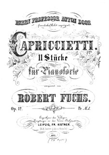 Elf Capriccio, Op.12: Für Klavier by Robert Fuchs