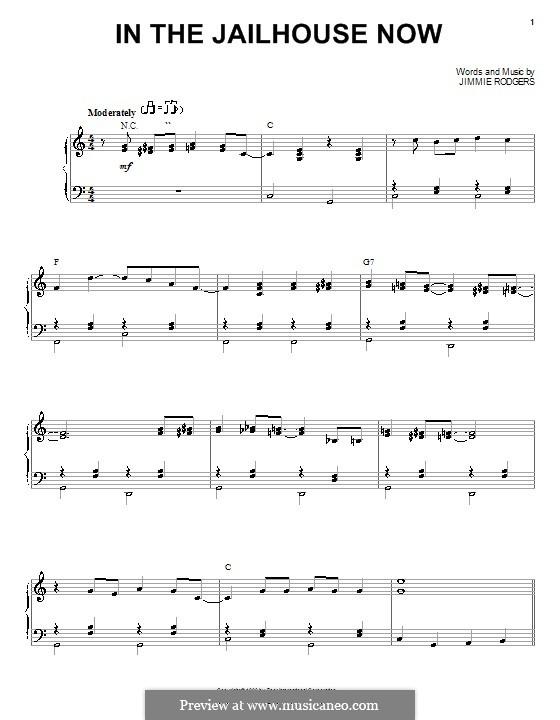 In the Jailhouse Now: Für Stimme und Klavier (oder Gitarre) by Jimmie Rodgers