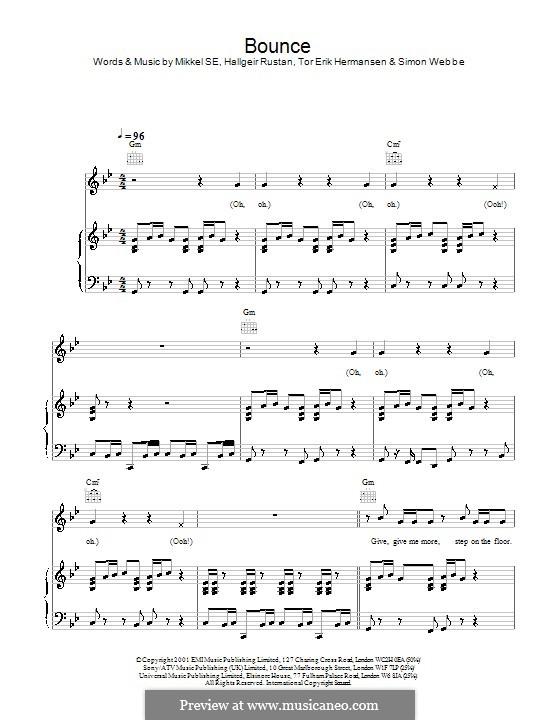 Bounce (Blue): Für Stimme und Klavier (oder Gitarre) by Hallgeir Rustan, Mikkel Storleer Eriksen