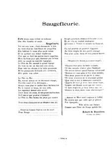 Saugefleurie, Op.21: Vollpartitur by Vincent d' Indy