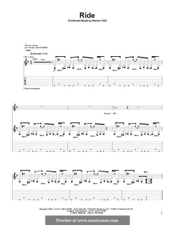 Ride (Puya): Für Gitarre mit Tab by Ramon Ortiz