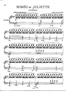 Illustrationen zu 'Romeo und Julia' von Gounod, Op.136: Illustrationen zu 'Romeo und Julia' von Gounod by Alfred Jaell