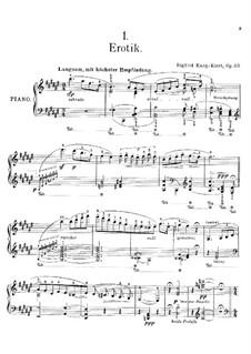 Vier Klavierstücke, Op.23: Für einen Interpreten by Sigfrid Karg-Elert