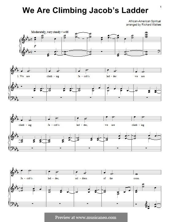 We are Climbing Jacob's Ladder: Für Stimme und Klavier (oder Gitarre) by folklore