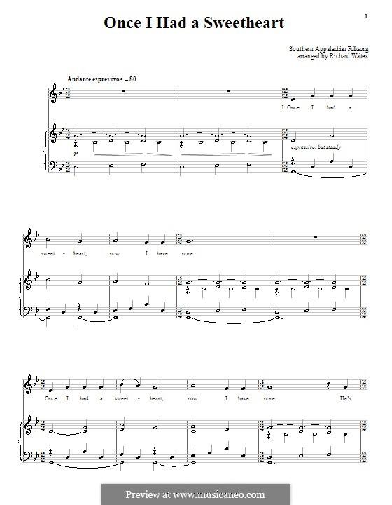 Once I Had a Sweetheart: Für Stimme und Klavier (oder Gitarre) by folklore