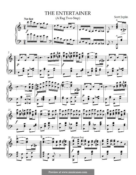 The Entertainer, für Klavier: Noten von hohem Quaität by Scott Joplin