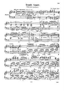 Sonate für Klavier Nr.1 in c-Moll, Op.4: Für einen Interpreten by Frédéric Chopin