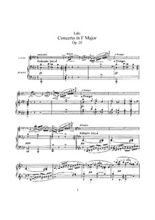 Violinkonzert, Op.20: Für Violine und Klavier by Édouard Lalo