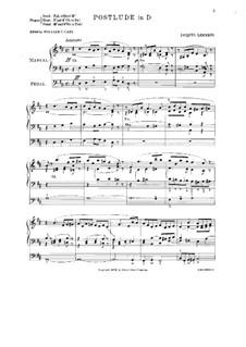 Postlude D-dur: Postlude D-dur by Jacques-Nicolas Lemmens