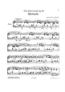 Drei Klavierstücke, Op.101: Drei Klavierstücke by Ignaz Brüll