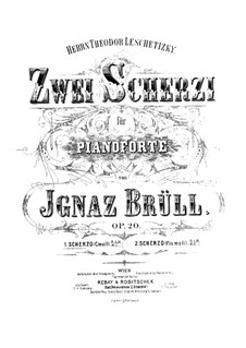 Zwei Scherzi, Op.20: Zwei Scherzi by Ignaz Brüll
