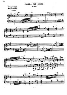 Suite Nr.7 in g-Moll, HWV 432: Für Klavier by Georg Friedrich Händel