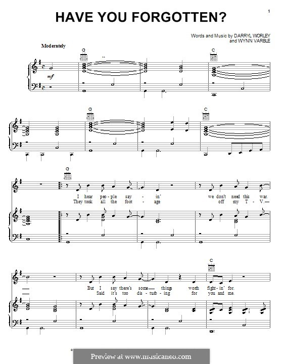 Have You Forgotten?: Für Stimme und Klavier (oder Gitarre) by Wynn Varble