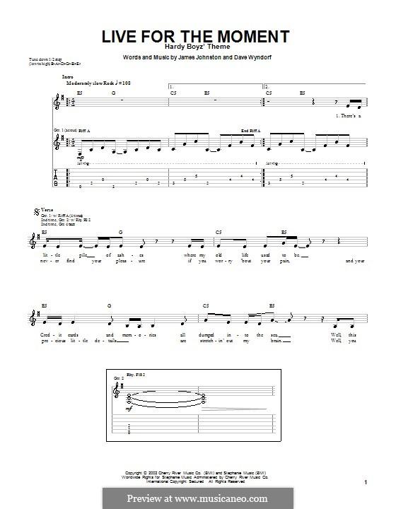 Live for the Moment (Monster Magnet): Für Gitarre mit Tabulatur by James D. Johnston, Dave Wyndorf