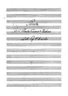 Sonate für Flöte und Violine: Sonate für Flöte und Violine by Franz Anton Hoffmeister