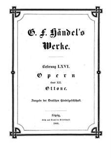Otto, King of Germany, HWV 15: Vollpartitur by Georg Friedrich Händel