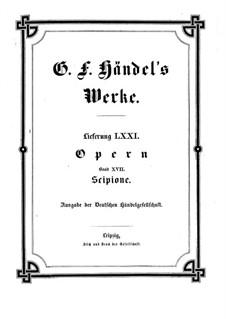 Scipione, HWV 20: Vollpartitur by Georg Friedrich Händel
